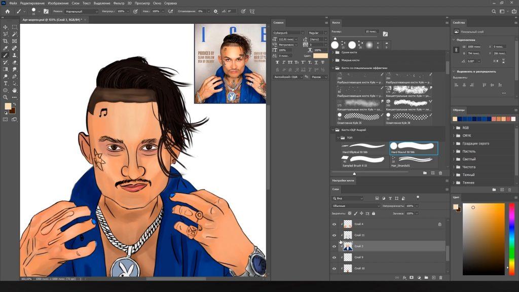 Портрет - волосы